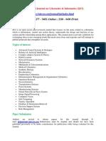 International Journal on Cybernetics & Informatics (IJCI)