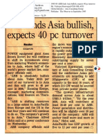 1995-09 ABB Finds Asia Bullish, Expects 40 Pc Turnover Panelist Vishvjeet Kanwarpal CEO GIS-ACG in the Observer
