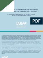 Informe del Iaraf sobre carga tributaria