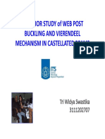 BEHAVIOR STUDY OF WEB POST BUCKLING AND VIEREENDEEL MECHANISM IN CASTELLATED BEAMS