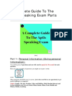 2. a Complete Guide to the Aptis Speaking Exam Parts