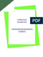 Cuaderno Gramática PAU