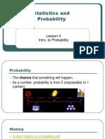 Lesson 4 Probability