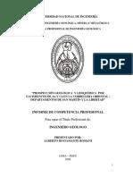 Prospeccion geologica y geoquimica.