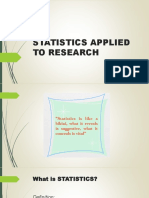 Statistics Applied to Researchpp1
