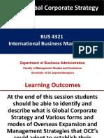 Global Corporate Strategy -