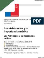 Los Artrópodos y Su Importancia Médica