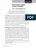 Association Between DM and Causes of Dementia