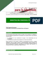DIDÁCTICA DEL PASE EN EL FÚTBOL
