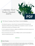 The National Competency Based Teachers Standards