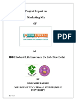 Marketing Mix of Idbi Federal life insurance pvt ltd