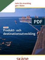 Strategiska initiativ för utveckling av besöksnäringen i Skåne