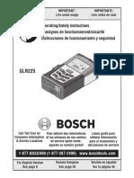 BOSCH GLR225 Manual