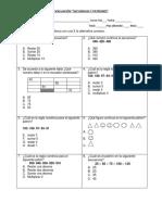 Prueba Secuencias y Patrones 5 Basico 2019
