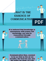 Chapter 1 Essence of Communication