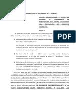PIDE SE CONMINE A LA PARTE INCIDENTISTA A DILIGENCIAR LA REMISIÓN DEL CUADERNILLO DE INVESTIGACIÓN