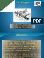 3. Los Estilos de La Administración