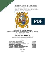 Estado Financiero Minsur - Proyectos