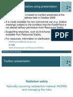 MSH Roadshows TB RadiationSafety