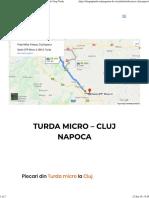 Alis Turda Micro Cluj Turda Micro – Cluj Naoca - Alis Grup Turd Sambata