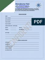 Manojkumar Nair Consultation Form