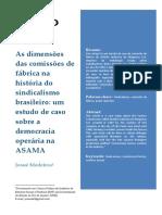 As Dimensões Das Comissões de Fábrica Na História Do Sindicalismo