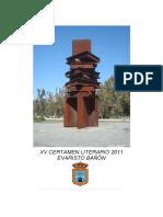 "XV Certamen Literario ""Evaristo Bañón"" Caudete 2011"