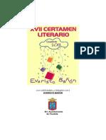 "XVII Certamen Literario ""Evaristo Bañón""  Caudete 2013"