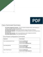 Cisco Command Summary