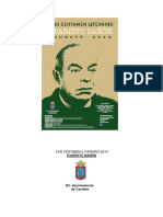 "XVIII Certamen Literario ""Evaristo Bañón"" Caudete 2014"