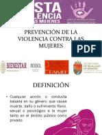 Prevención de la Violencia contra las Mujeres