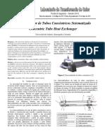 Intercambiador de Tubos Concentricos Sistematizado