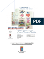 """XXII Certamen Literario """"Evaristo Bañón""""  Caudete 2018"""