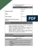 Secuencia Didáctica Español