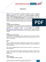 Concurso Interno de Leitura_Regulamento 2010