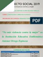 PROYECTO SOCIAL  2019 - ¡ NO MAS VIOLENCIA CONTRA LA MUJER ! - UNIVERSIDAD CESAR VALLEJO - COLEGIO ANTENOR ORREGO