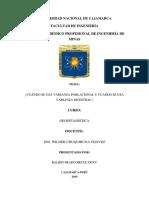 Varianza Poblacional y Varianza Muestral Tarea