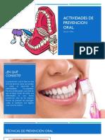 Actividades de Prevencion Oral