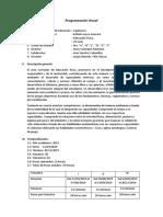 Programación Anual Unidad de Aprendizaje 2019 RLG