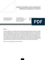 DESIGN DE INTERIORES COMO ESTRATÉGIA DE PROMOÇÃO DE INOVAÇÃO EM STARTUPS