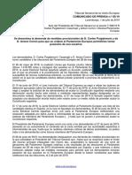 Resolució del Tribunal General de la UE sobre Puigdemont i Comín