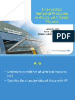 Unexpected vertebral fractures in adults with cystic fibrosis