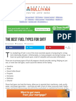 The Best Fuel Types for SHTF