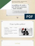 Políticas Públicas de Saúde e Educação