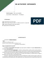 0 Proiect Didactic Integrat Clasa Pregatitoare