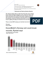 "Norwegian Continental Shelf clean-up - Exxon's ""Get out of Jail Free"" card"