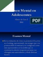 Examen mental en adolescentes
