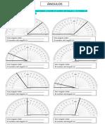 Nombre y Medidas de ángulos 4to