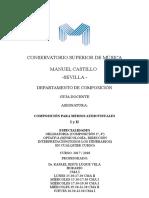 Sevilla - Composicion Audiovisuales Guia Docente 2017 2018