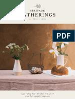 Heritage Gatherings Print Update